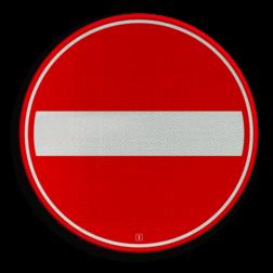 Verkeersbord Eenrichtingsweg, in deze richting gesloten voor voertuigen, ruiters en geleiders van rij- of trekdieren of vee Verkeersbord RVV C02 - Eenrichtingsweg, in deze richting gesloten C02 verboden in te rijden, verbodsbord, niet inrijden, c2, eenrichtingsweg, gesloten verklaring, eenrichting