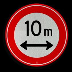 Verkeersbord Gesloten voor voertuigen en samenstellingen van voertuigen die, met inbegrip van de lading, langer zijn dan op het bord is aangegeven Verkeersbord RVV C17-... - Gesloten voor te lange voertuigen C17 gesloten voor, verbodsbord, verboden, lengte, C17, lang voertuig