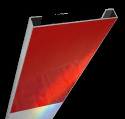 Schrikhekplank 3000mm lang C-profiel blokmotief. RVV BB16-1 hekplank, schrikhek, rood, witte, planken, schrikplank, afzethek, blokken, RVV BB15-2, BB15