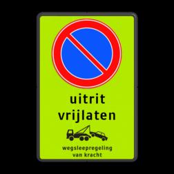 Product Parkeerverbod, eigen tekst + wegsleepregeling Parkeerverbod RVV E01 + eigen tekst + wegsleepregeling parkeerbord, verboden te parkeren, eigen terrein, parkeerverbod, wegsleepregeling, eigen tekst invoeren, uitrit vrijlaten,E1