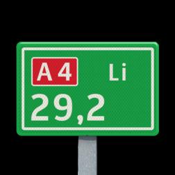 Hectometerbord BB08-1 [ Li ] nummerpaal, hectometerpaal, RWS, BM7b, hectometer, BB08-1