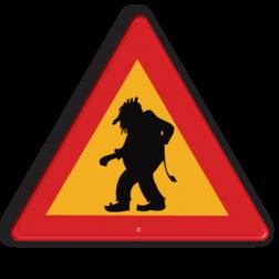 Verkeersbord Overstekende trol Verkeersbord ZWEDEN Trol cadeau, kado, pas op,zweden, troll, trollen
