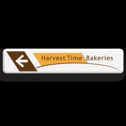 Informatiebord - Harvest Time - routepijl - 1000x200x28mm Soldaat van oranje