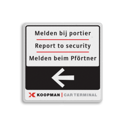 Routebord vierkant - 2 kleuren opdruk +  Logo