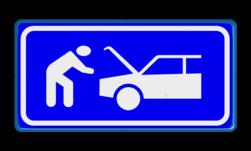 Verkeersbord Vluchthaven, pechstrook Verkeersbord RVV BB06 Pech, vluchtstrook