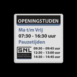 Tekstbord wit/zwart/ huisstijl SNL-LWM zelf tekstbord maken, tekst invoeren, verkeersbord, onderbord