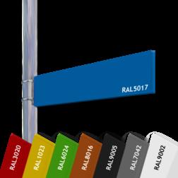 Verwijskoker 15mm  BLANCO - Vlaggend blank, blanco, verwijsbord, aanwijsbord, vlaggend, tegen paal, anwb bord, recreatie, vrij invoerbare tekst, eigen tekst