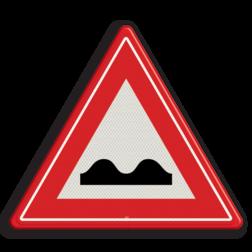 Product Slecht wegdek Verkeersteken RVV J01 hobbels in de weg, pas op, let op, slechte weg, J1