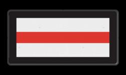 Product Stoppen voor het sein. NS Seinbord 513 - 600x300mm - Nederlandse Spoorwegen Wit / zwarte rand, (RAL 9005 - zwart), Let op!, Hier uw, eigen tekst-, regels