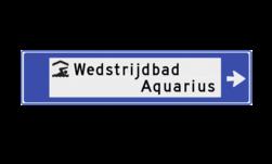 Verwijsbord watersport 1130x265x32mm anwb bewegwijzering, verwijsborden, Zwembad, Zwembad , overdekt), Zeilschool / haven, Surfstrand, Kanoverhuur / kade, Hengelsport, Zwemwater open, Strand, Haven pleziervaart, Rondvaart