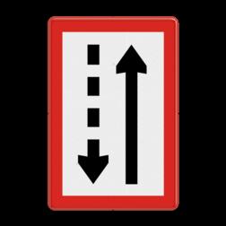 Scheepvaartbord Verplicht zich aan de stuurboordzijde van het vaarwater te houden. Het schip is verplicht aan de stuurboordzijde van het vaarwater te varen en te blijven. Scheepvaartbord BPR B. 3b - Verplicht zich aan de stuurboordzijde van het vaarwater te houden B. 3b water, B3, B3b, gebodstekens, gebodsborden, waterweg, waterwegen, scheepvaarttekens, verkeerstekens, stuurboordzijde