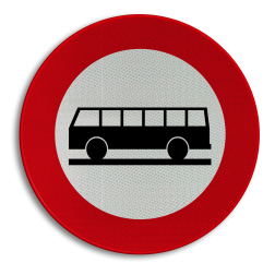 Verkeersbord C22: Verboden toegang voor autocars Verkeersbord België C22 - Verboden toegang voor autocars C22 verbodsbord, verboden voor bussen, openbaar vervoer, c22, touringcars