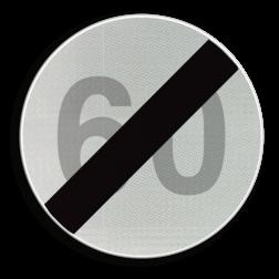 Verkeersbord C45: Einde van de snelheidsbeperking opgelegd door het verkeersbord C43. Verkeersbord België C45 - Einde van de snelheidsbeperking opgelegd door het verkeersbord C43 C45 verbodsbord, einde, snelheidsverbod, maximale snelheid