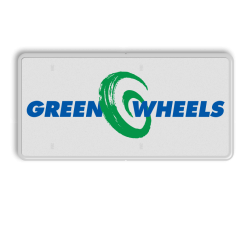 Parkeerbord LET OP! Het getoonde bord is een voorbeeld, en kan NIET zo besteld worden. Hierop rust auteursrecht. U kunt uw eigen ontwerp aanleveren. Parkeerbord rechthoek 2:1  full-colour opdruk logobord, eigen ontwerp, schoolplein, speciale borden, green wheels, greenwheels