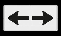 Verkeersbord Onderbord - Geldig in twee richtingen Verkeersbord RVV OB502 - Onderbord - Geldig in twee richtingen OB502 pijlen, richting, pijl rechts en links, OB502