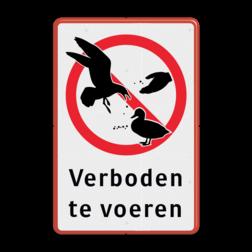 Informatiebord - Verboden te voeren Veilige buurt, niet voeren, ratten, rattenplaag, pas op, let op