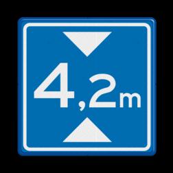 Verkeersbord Maximale doorrijhoogte Verkeersbord RVV L01 - Maximale doorrijhoogte L01 L1, maximale hoogte, Doorrijhoogte,  hoogteborden, doorrijhoogte, maximale, doorrijhoogte, Hoogte, Hoogteportaal, Doorrijhoogteportaal, Doorrij, BT