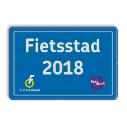 Informatiebord Fietsstad Fietsersbond, Fietsstad, 2018, Fietsers