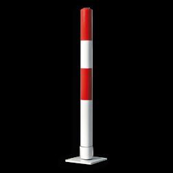Rampaal zelfoprichtend Ø76x1000mm wit/rood of geel/zwart Rampaal, Afzetpaal, Ramkraak, Magazijn, Inrichting, Juwelier, Bank, Ramzuil, veilig, ram, Menhir, Beveiliging