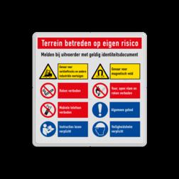Veiligheidsbord   8 symbolen + banners