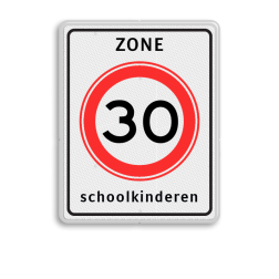 Verkeersbord RVV A01-xxx zb + txt Zonebord, A01-30, snelheidsbord, maximalesnelheid, maximale snelheid, maximumsnelheid, maximum snelheid, zone, 30 kilometer