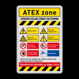 Veiligheidsbord | 8 symbolen + banners veiligheid, instructies, bord, signalisatie, safety, instructions, waarschuwing, warning, danger, gebod, verbod, verboden, toegang, gevaar, vest, helm, schoenen, verplicht, camera, video, bewaking, toezicht, atex, explosie, stoffen, magnetisch, elektrische, spanning
