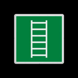 Product E059 - Vluchtladder Vluchtroute bordje E059 - Vluchtladder Ladder, brandtrap, vluchten, vluchtroutebord, reddingsmiddelbord, vluchtroutebord, reddingsmiddelbord, evacuatie, evacuatiebord, veiligheidspictogram, veiligheidsbord, Nooduitgang pictogrammen, Vluchtrouteaanduiding, Verzamelplaats pictogram, Reddingspictogram, nooduitgang symbool, teken, icoon, symbolen, reddingsborden, bhv bord