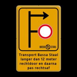 Informatiebord bedrijfsnaam/logo - verwijzing Tekstbord, WIU bord, tijdelijke verkeersmaatregelen, werk langs de weg, omleidingsborden, tijdelijk bord, werk in uitvoering, 3 regelig bord, J16