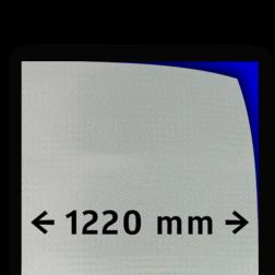 Reflecterende folie V-8000 EVG wit gemetaliseerd 1220mm breed reflex, fluoricerend, reflecterend, retroreflex, retroreflecterend, retro, bordfolie, signface