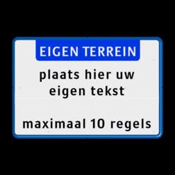 Tekstbord landscape 3:2 met banner zelf tekstbord maken, tekst invoeren, verkeersbord, onderbord