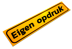 Magneetbord 500x100x1,5mm geel FLUOR eigen opdruk' werkverkeer, magneet, folie, sticker, bord, eigen, opdruk, tekst