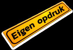Magneetbord 800x200x1,5mm geel FLUOR eigen opdruk' werkverkeer, magneet, folie, sticker, bord, eigen, opdruk, tekst