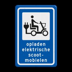 Informatiebord Oplaadpunt elektrische scooter Informatiebord - Oplaadpunt elektrische scootermobielen BE01 elektrische, voertuigen, groene stroom,  BW101, fietslaadpunt, laadpunt, fietsen, oplaadpunt, laadpaal, oplaadpalen, oplaadbaar, ebike, bike, stalling, BE, BE03, scooter, brom, bromfiets, brommer, scootmobiel, scootmobielen