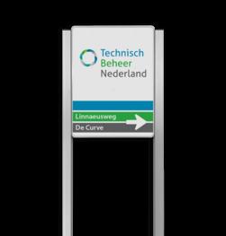 Bedrijfsnaambord 3:4 reflecterend met luxe staanders - Met logo Bedrijfsnaambord, bedrijfslogo, logobord, bedrijf, bord, reflecterend, portaal, systeem