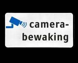 Informatiebord camerabewaking - BP05 cameraregistratie, camera, bewaking, eigen terrein, beveiliging, videoregistratie, BP06, Preventie, Toezicht