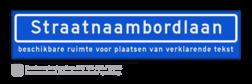 Straatnaambord met ondertekst KOKER 100x20cm - max. 18 karakters - NEN1772 straat, straatnaamborden, naambord, straatbord, kokerbord, NEN, officieel, wegnaam, sign, street, 1000, 100, ondertekst, verklarende, tekst