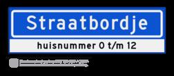 Straatnaambord KOKER 70x20cm - max. 12 karakters - met nummer verwijzing - NEN1772 straat, straatnaamborden, naambord, straatbord, kokerbord, NEN, officieel, wegnaam, sign, street, 700, 70, huis, nummer, verwijzing