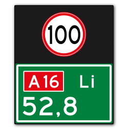 Hectometerbord BB08 + snelheid [ Li ] nummerpaal, hectometerpaal, RWS, BM07a, hectometer, BB08