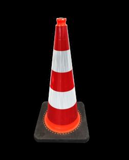 Verkeerskegel 750mm KL2 Verzwaard - Voor gebruik openbare ruimte & wegwerkzaamheden pion, pionnen, kegels, pilon, oranje, hoedje, verkeerskegel, afzetkegel, pylon
