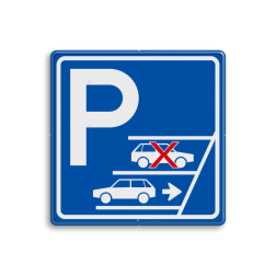 Parkeerbord Achteruit inparkeren verplicht stoep, parkeerplek, parkeerplaats, auto, electrisch, E8, smart
