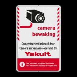 Informatiebord - Camerabewaking + logo Schoolplein rookvrij, schoolzone, astmafonds, astma, long fonds, BP07, BP11