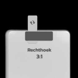 Basisbord omgezette rand - type 3:1 - rechthoek blank, blanco, onbeplakt verkeersbord, onafgewerkt bord, halffabrikaat, zelf beletteren, reclamebord, bordmodel