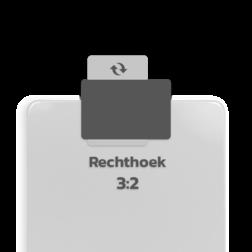 Basisbord omgezette rand - type 3:2 - rechthoek blank, blanco, onbeplakt verkeersbord, onafgewerkt bord, halffabrikaat, zelf beletteren, reclamebord, bordmodel
