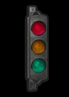 Product ** Exclusief timer en/of besturing van verkeerslicht. ** Inwendig bedraad tot aan klemmenstrook. Attentielicht LED 3xØ100mm 230V stoplicht, stoppen, Verkeerslichten, FUTURLED