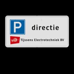 Verkeersbord 2:1 RVV E04 + eigen tekst + logo logobord, eigen ontwerp, schoolplein, speciale borden