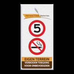 Informatiebord - Harvest Time - ingang - 500x1000x28mm harvest time, logo, intree, verboden te roken