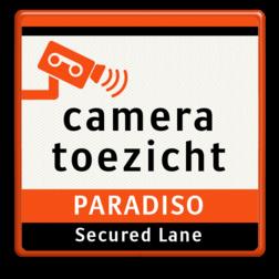 Verkeersbord Camera toezicht + bedrijfsnaam PARADISO Amsterdam Verkeersbord Cameratoezicht | PARADISO parkeren, logobord, camera, bewaking, stichting crimineel, beveiliging, secure lane, cameraregistratie, camera, bewaking, eigen terrein, beveiliging, videoregistratie, BP06, Preventie, Toezicht
