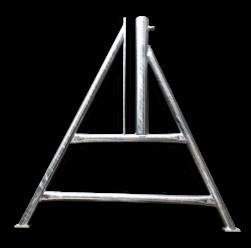 A-standaard voor afzethek grondpen