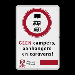 Informatiebord reflecterend - met eigen tekst en in huisstijl logobord, eigen ontwerp, KFC, speciale borden, camper, aanhanger, caravan