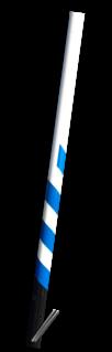 ANWB Buispaal 3500mm boven maaiveld - Rondom wit gecoat + zwarte onderzijde en blauwe serpent
